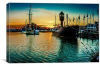 Marina Sunset, Canvas Print