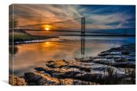 Humber Sunset 2016  0779, Canvas Print