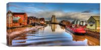 Rising Tide on the River Hull, Canvas Print