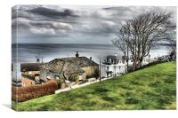 filey roof tops, Canvas Print