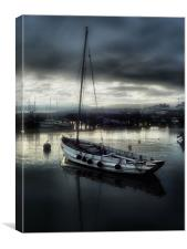 harbour nights, Canvas Print