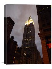 Empire State Building by Night, Canvas Print