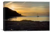 Sunrise Pendennis Point Falmouth, Canvas Print