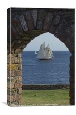 Blue Schooner 01, Canvas Print