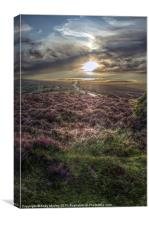 Sunset over Exmoor, Canvas Print