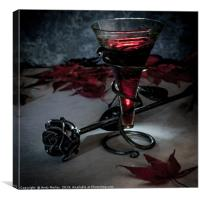 Wine and Roses, Canvas Print