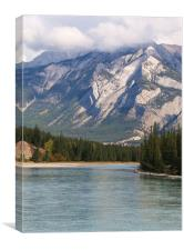 View from Jasper National Park., Canvas Print