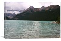 View from Lake Louise, Banff National Park, Canvas Print