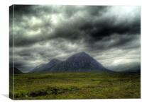 Stormy Clouds Over Glen Coe, Canvas Print