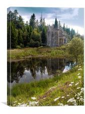 Gate Lodge of Ardverikie Estate, Canvas Print