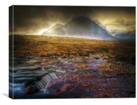 Golden Skies Of Glen Coe, Canvas Print
