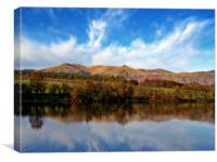 Autumn Reflections, The Ochil Hills., Canvas Print
