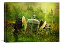 Tractor Tears, Canvas Print