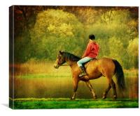 A Gentle Canter, Canvas Print