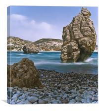 Aphrodite Rock, Cyprus, Canvas Print