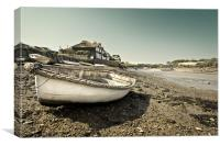 Boat at Burnham Overy Staithe, Canvas Print