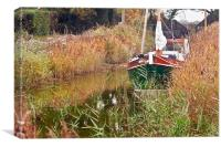 Moored at Hickling, Canvas Print