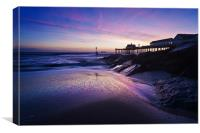 Blue dawn over Southwold Pier, Canvas Print