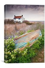 House at Brancaster, Canvas Print