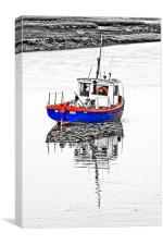 Fishing Boat at Burnham, Canvas Print