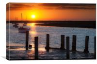 North Norfolk Sunset, Canvas Print