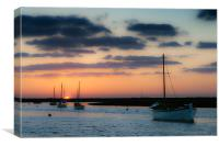 Dusk at Burnham, Canvas Print