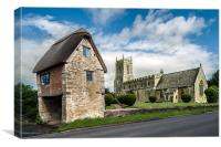 St. Peter and St. Paul, Long Compton, Canvas Print