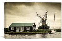 St Benets Mill, Canvas Print