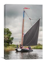Norfolk Wherry 'Albion', Canvas Print
