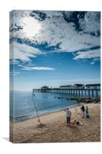 Fishing at Southwold, Canvas Print