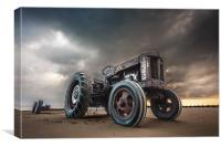 Tractor at Overstrand, Canvas Print
