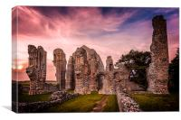Binham Priory in Norfolk, Canvas Print