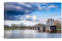 Wooden boathouses, Canvas Print