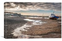 Tides out at Burnham Overy Staithe, Canvas Print