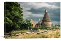 Oast House at Moorden, Canvas Print