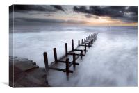 Grey Dawn at Overstrand, Canvas Print