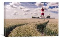 Tracks to Happisburgh Lighthouse, Canvas Print