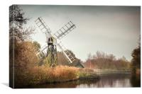 Boardman's Drainage Mill, Canvas Print