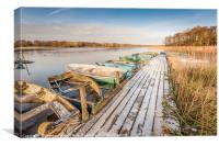 Icy Filby Broad, Canvas Print