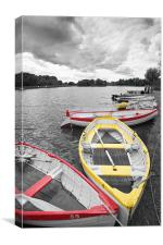Rowing Boats at Thorpe Ness, Canvas Print