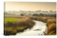 Misty Morning at Cley, Canvas Print