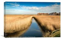 Cley Mill across the field, Canvas Print