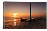 Caister Sunrise, Canvas Print