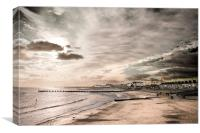 Lowestoft Central Beach, Canvas Print