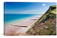 Sheringham Cliffs, Canvas Print
