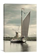 The Wherry Albion .. Toned, Canvas Print