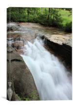 Spring time water fall, Canvas Print