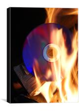 Burning a Disc !, Canvas Print
