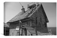 This ole house, Canvas Print