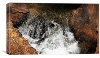 Miniwaterfall in cave, Canvas Print